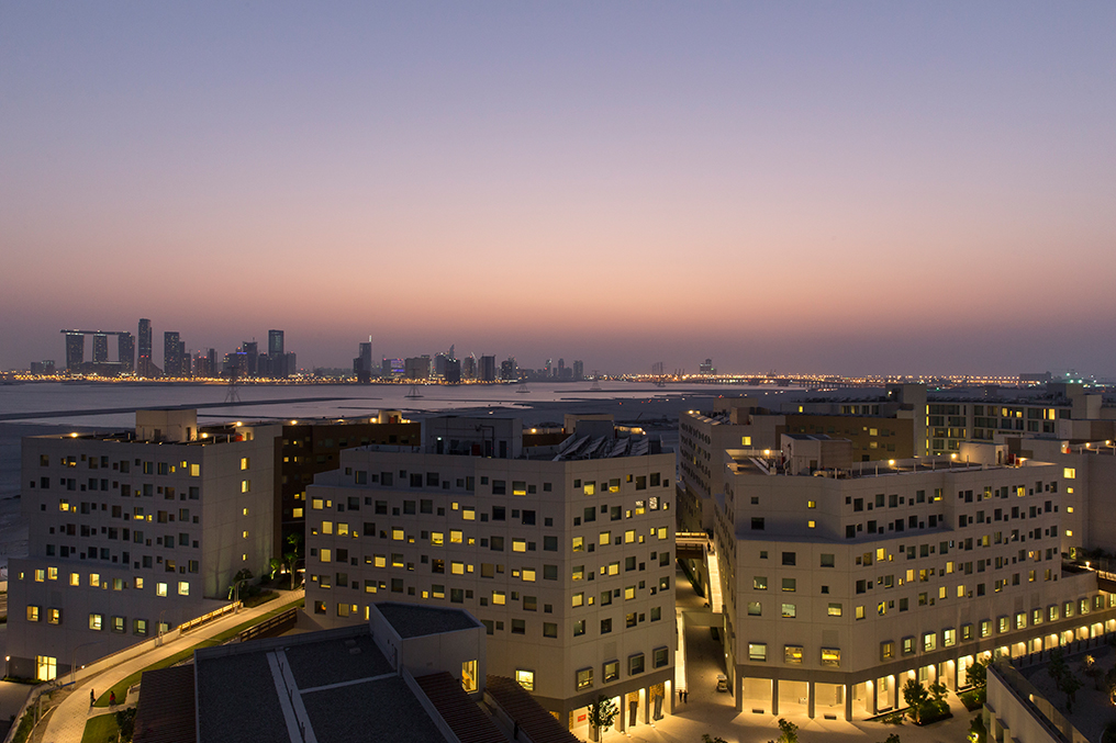 View of Abu Dhabi from Saadiyat Campus